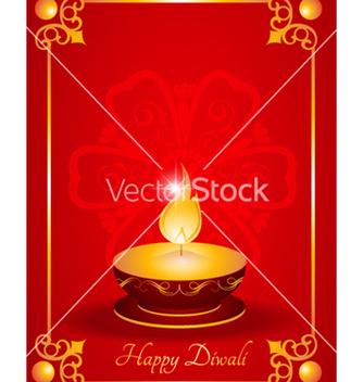 Free diwali greeting card vector - Kostenloses vector #256679