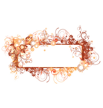Free floral frame vector - Free vector #256959