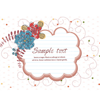 Free colorful floral frame vector - Kostenloses vector #257009