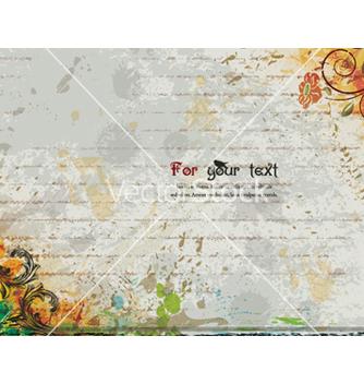 Free vintage floral background vector - Free vector #257029