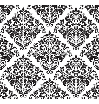 Free damask seamless background vector - Kostenloses vector #257059