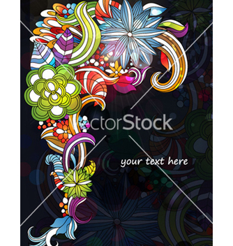 Free colorful floral background vector - Free vector #257149