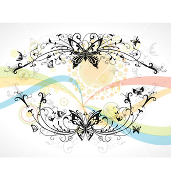 Free colorful abstract floral frame vector - Free vector #257259