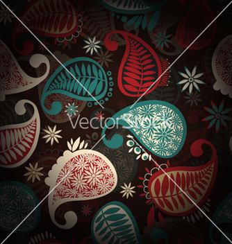 Free paisley seamless pattern vector - Kostenloses vector #257379