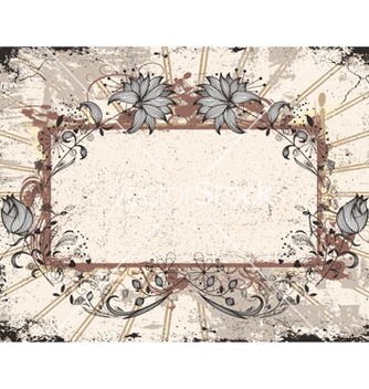 Free grunge floral frame vector - Free vector #257479