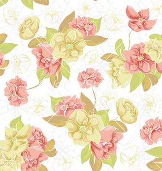 Free vintage floral pattern vector - Free vector #257679