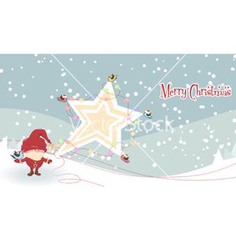 Free santa with star vector - Free vector #257729
