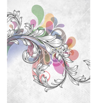 Free colorful floral background vector - Free vector #257779