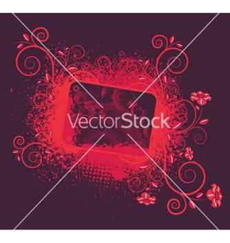 Free vintage floral frame vector - Free vector #258199