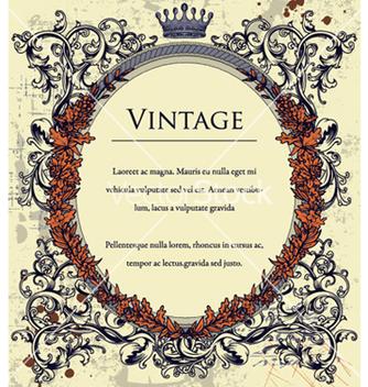 Free vintage floral frame vector - Free vector #258249