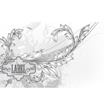 Free vintage label with floral vector - Free vector #258819