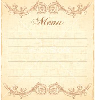Free vintage restaurant menu vector - Kostenloses vector #258849