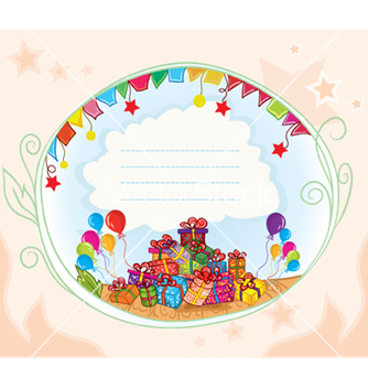 Free gifts with balloons vector - vector gratuit(e) #258959
