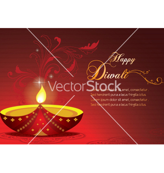 Free diwali greeting card vector - Free vector #259349