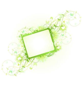 Free spring floral frame vector - Kostenloses vector #259419