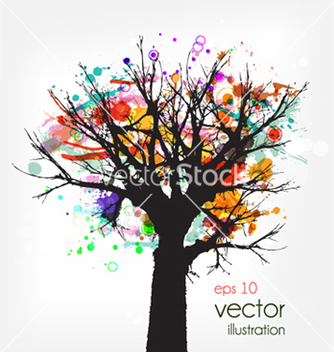 Free abstract tree vector - Kostenloses vector #259669