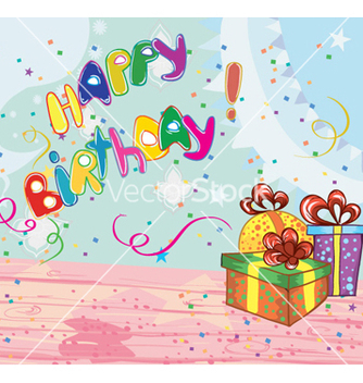 Free kids birthday party vector - Free vector #259729