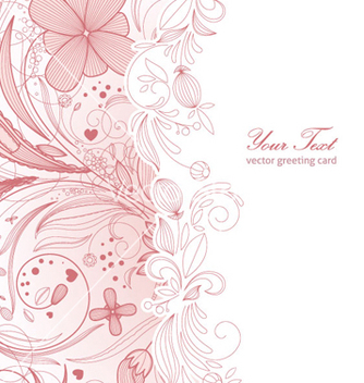 Free floral greeting card vector - Free vector #259759