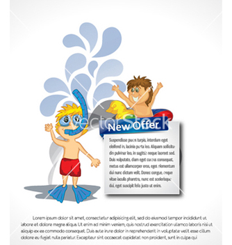 Free kids with banner vector - Free vector #259789
