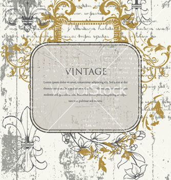 Free vintage frame vector - Free vector #259879