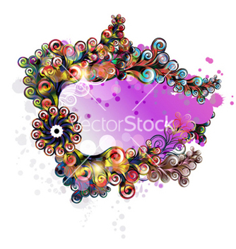 Free colorful abstract frame vector - Free vector #259939