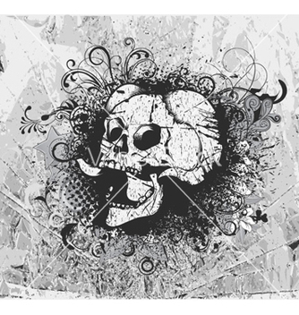 Free grunge background with skull vector - Kostenloses vector #260059