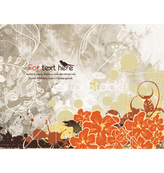 Free grunge background with flowers vector - Kostenloses vector #260089