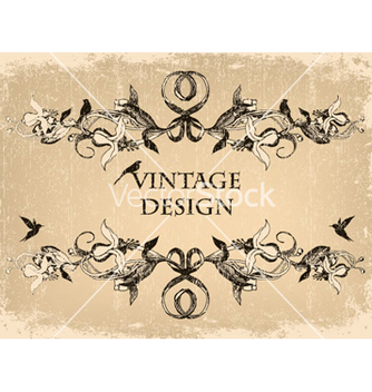 Free grunge floral frame with birds vector - Free vector #260099