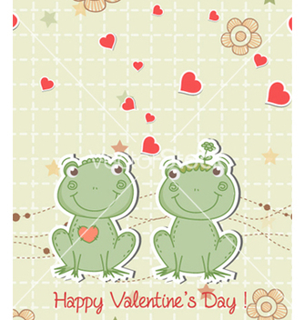Free frogs in love vector - бесплатный vector #260199