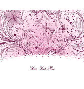 Free floral greeting card vector - Free vector #261079