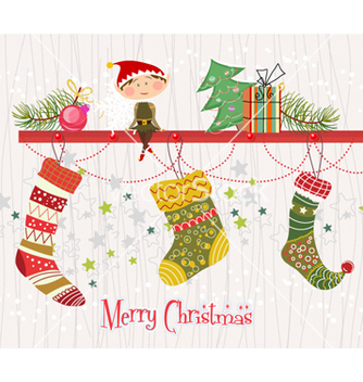 Free christmas background vector - Free vector #261099