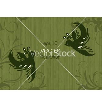 Free vintage floral background with birds vector - Kostenloses vector #261349