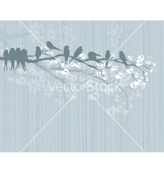 Free birds on a branch vector - бесплатный vector #261409