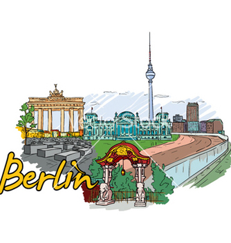 Free berlin doodles vector - бесплатный vector #261489