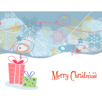 Free presents with snowflakes vector - vector #261539 gratis