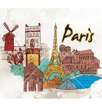 Free paris doodles vector - vector gratuit #261819