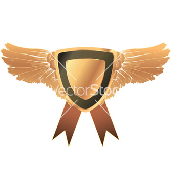 Free gold medal with wings vector - vector gratuit #262589