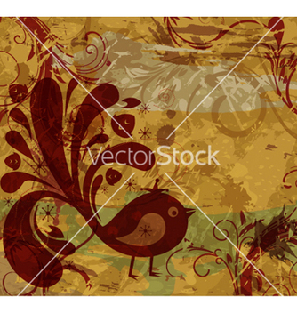 Free retro grunge floral background vector - vector #262739 gratis