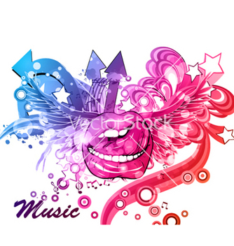 Free colorful music poster vector - Free vector #262819