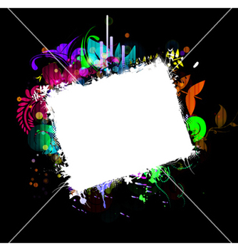 Free colorful floral frame vector - Kostenloses vector #262889