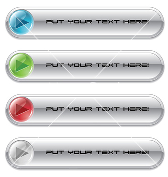 Free set of glossy buttons vector - Free vector #262979