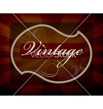 Free vintage label vector - Kostenloses vector #263109