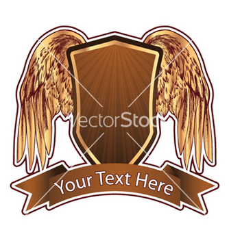 Free vintage emblem with shield vector - Free vector #263259