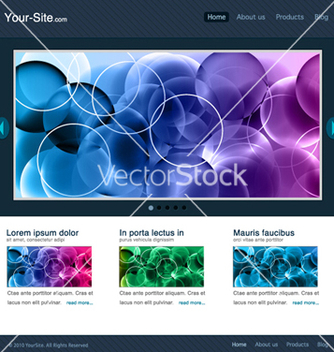 Free modern website template vector - Free vector #263379