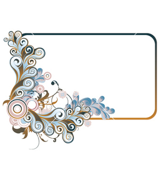 Free retro floral frame vector - Free vector #263449