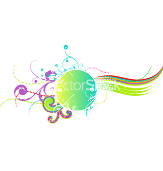 Free colorful abstract floral frame vector - Free vector #263579