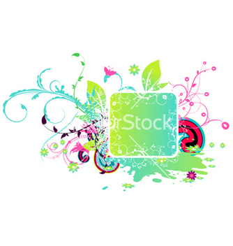 Free colorful abstract floral frame vector - Free vector #263739