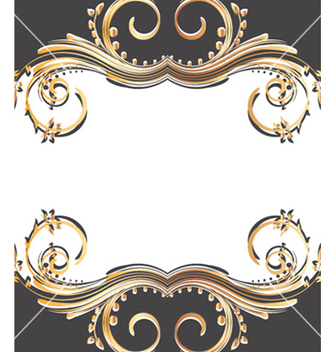 Free gold floral background vector - Free vector #263839