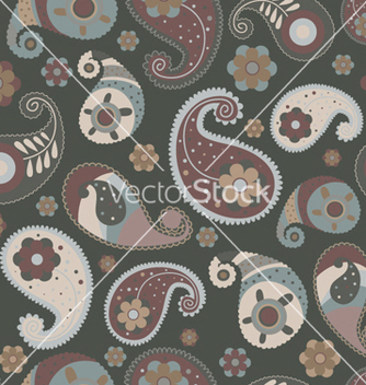 Free paisley seamless pattern vector - Kostenloses vector #264199