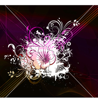 Free flower with abstract background vector - Free vector #264259